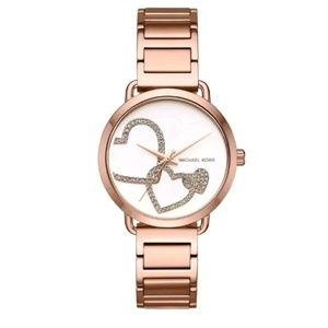 Michael Kors Portia Rose Gold Tone Bracelet Watch
